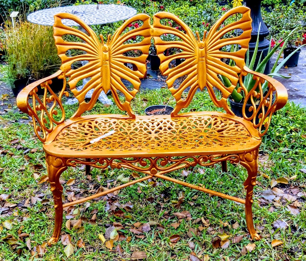 orange-metal-bench